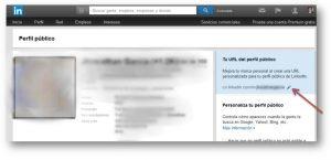 Como cambiar la direccion web en linkedin